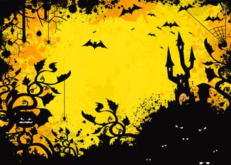 spooky grunge castle background