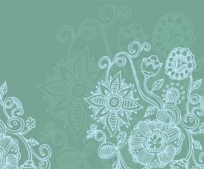 Summer flower back, vector illustration