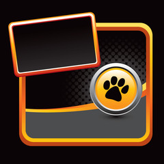 Pawprint stylized advertisement