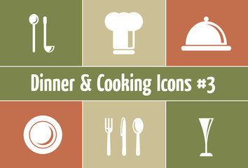 Restaurant Symbole: Dinner & Cooking Icons #3