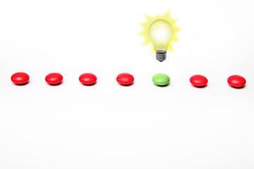 Konzept Idee, Innovation, Kreativität