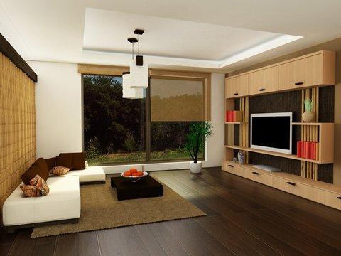 3d render of a modern living