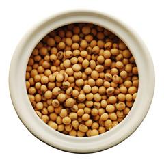 soy beans in a ceramic jar