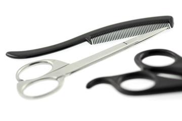 ciseaux coupe moustache barbe cheveux