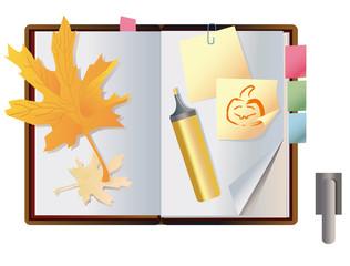 exposed autumn notebook