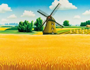 Mühle und Feld