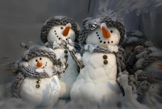bohommes de neiges
