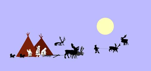 drawing reindeer breeder