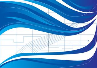 blue wavey background