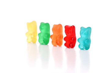 Colored gummy bears