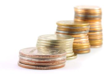 Stack of metal  money