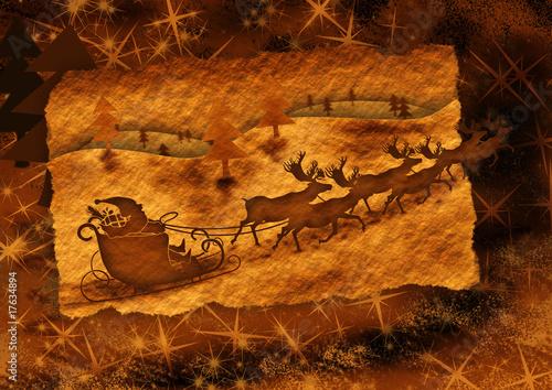 Nostalgische Weihnachtskarten Kaufen.Nostalgie Weihnachtskarte Goldbraun Stockfotos Und Lizenzfreie