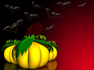 Halloween Sfondo-Halloween Background-Arrière Plan Halloween-3D