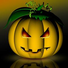 Zucca-Halloween Pumpkin-Citrouille-3D