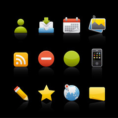 Icon Set in Black - Social Media