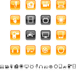 Multimedia  icon set. Vector illustration