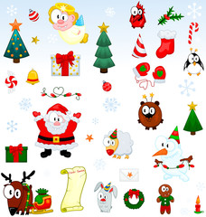 Christmas symbols collection