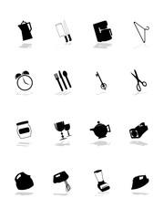 shopping pictograms set