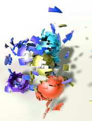 Colorful shattered shapes