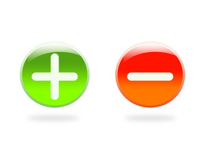 Maths icons: Plus and minus