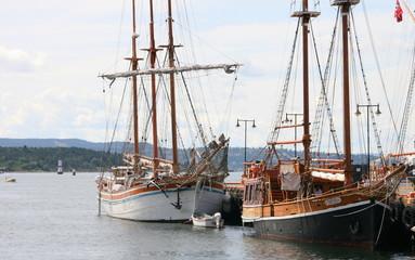 bateaux en mer du nord