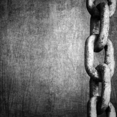 heavy chain on metal background
