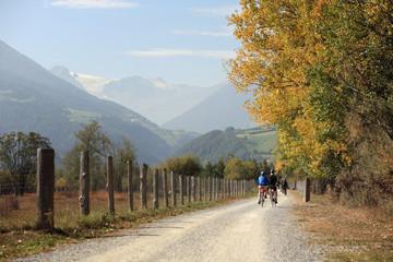 Radfahrer im Vinschgau