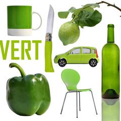 vert, green