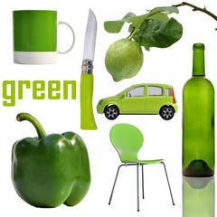 green, vert