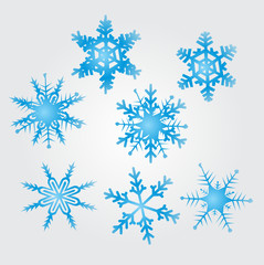 original vector snow flakes