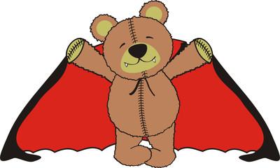 In de dag Beren teddy bear dracula