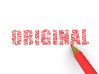 pencils depicting text original