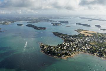 vue aerienne de Port Navalo, Golfe du Morbihan (56)