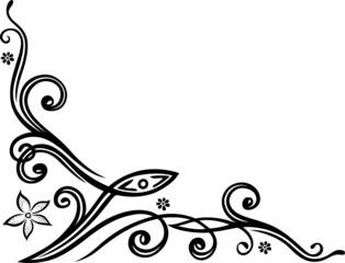 Ranke, Schlange, floral, ornamental mit Blumen