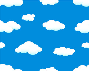 Papiers peints Ciel seamless sky background with clouds