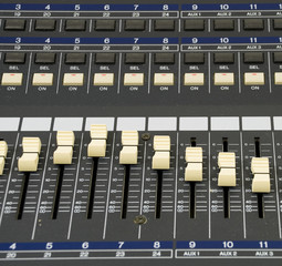 Close Up of Recording Unit Level Switches