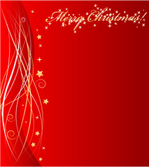 Abstract christmas background with wave ornament