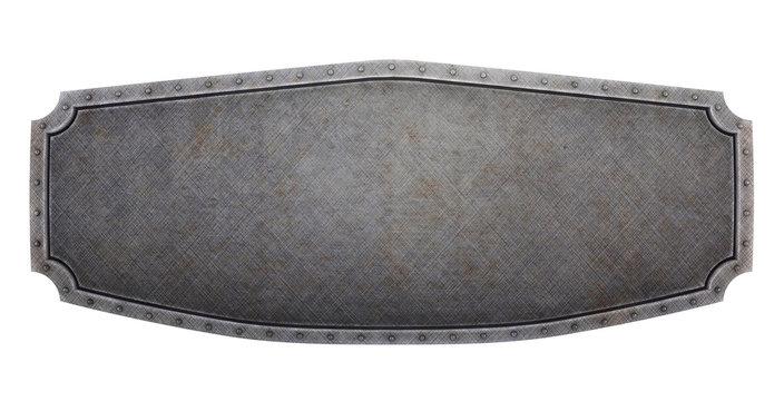 Medieval brushed banner (3d render)