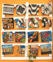 Fotobehang Graffiti collage Lisbon Craftsmanship 02