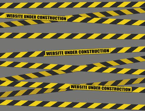 his website is under construction (vector)