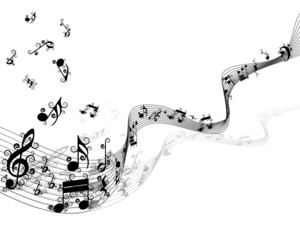curled musical background