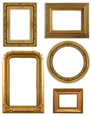 Collection Picture gold frame with a decorative pattern