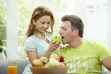 Cpople eating fruits