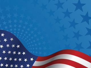 USA Flag and Stars