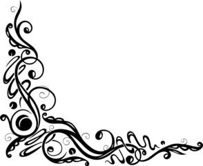 Ranke, floral, filigran, ornamental, Deko