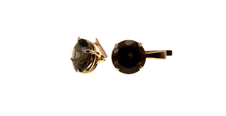 Gold earrings with topazes