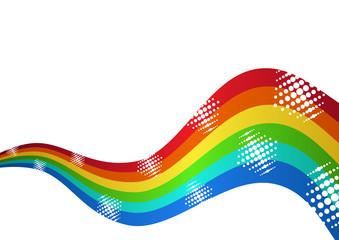 Rainbow waves background