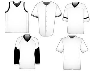 Sport jerseys templates