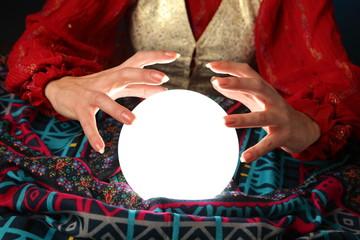 fortune-teller's hands