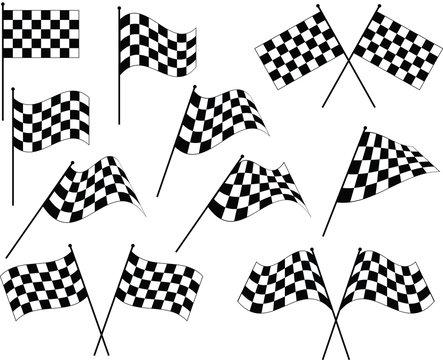 Race Flag Various Designs, Vinyl Ready
